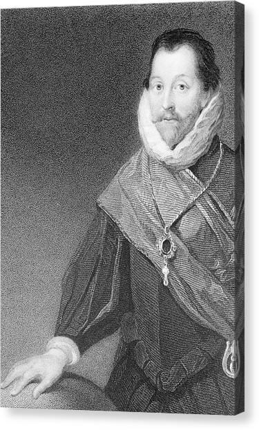 Drake Canvas Print - Sir Francis Drake by George Bernard/science Photo Library