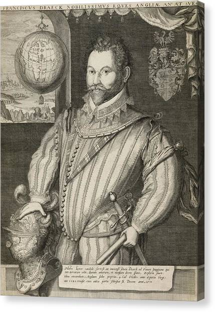 Drake Canvas Print - Sir Francis Drake by Library Of Congress, Rare Book And Special Collections Division/science Photo Library
