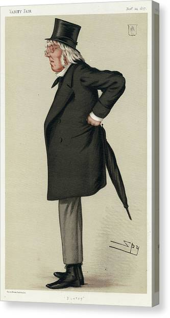 Sir Francis Hastings  Charles Doyle Canvas Print by Mary Evans Picture Library