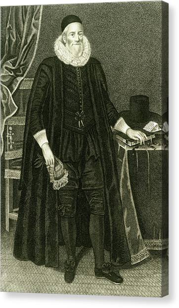 Sir Henry Savile  Scholar And Greek Canvas Print by Mary Evans Picture Library
