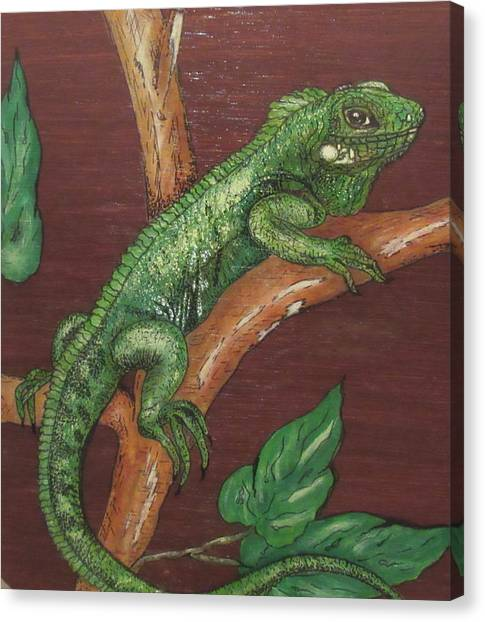 Sir Iguana Canvas Print