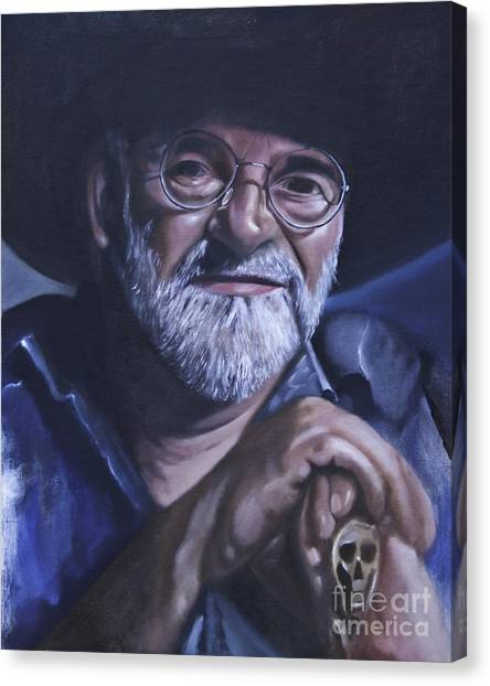 Sir Terry Pratchett Canvas Print