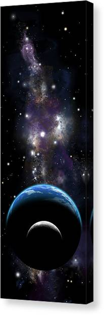 Sister Moon Nebula Canvas Print