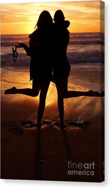 Sister Sunset Canvas Print