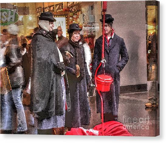 Salvation Army Canvas Print - Sisterhood Of The Kettle by David Bearden