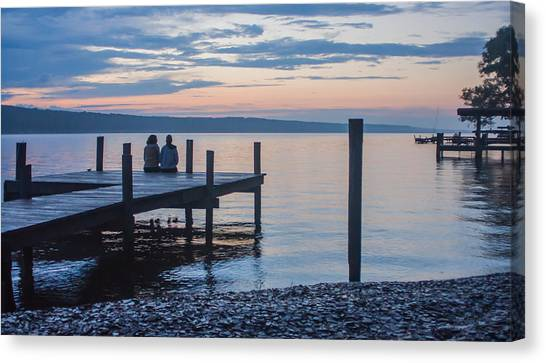 Sisters - Lakeside Living At Sunset Canvas Print