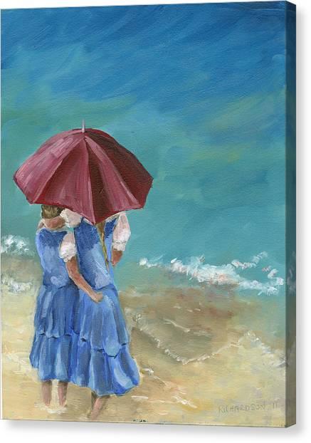 Big Sister Canvas Print - Sisters by Susan Richardson