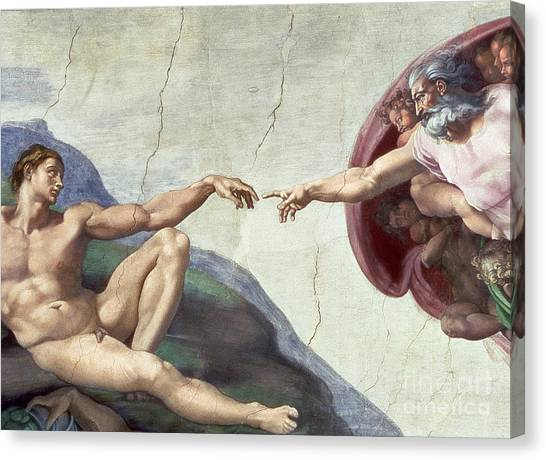 Catholic Canvas Print - Sistine Chapel Ceiling by Michelangelo Buonarroti