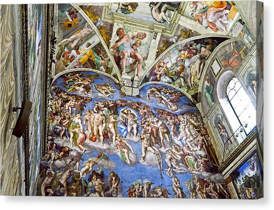 The Vatican Museum Canvas Print - Sistine Chapel - Last Judgement by Jon Berghoff
