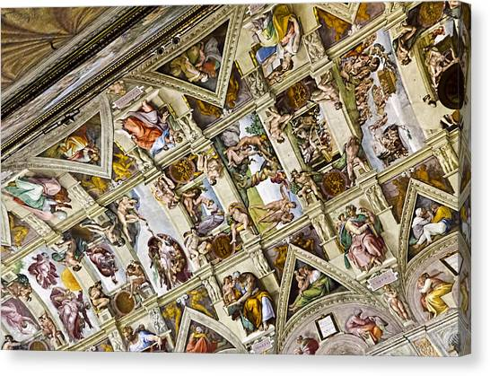 The Vatican Museum Canvas Print - Sistine Chapel- Vatican Museum by Jon Berghoff