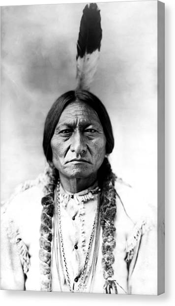Native Americans Canvas Print - Sitting Bull by Bill Cannon