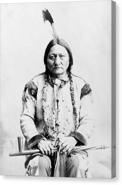 Native Americans Canvas Print - Sitting Bull by War Is Hell Store