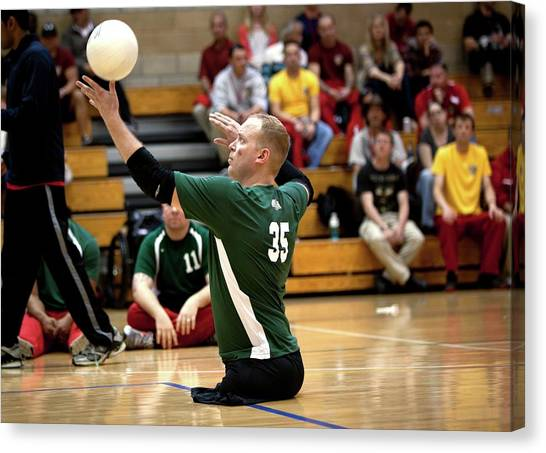 Volleyball Canvas Print - Sitting Volleyball by Us Air Force/mark Fayloga