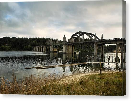 Canvas Print featuring the photograph Siuslaw River Bridge by Belinda Greb