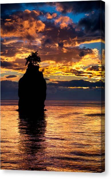 Siwash Rock Silhouette Canvas Print