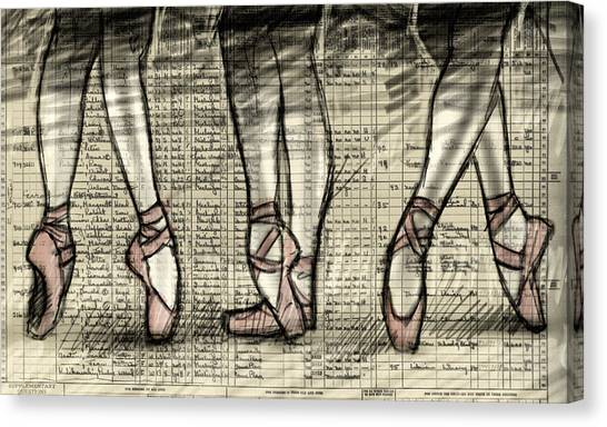 Ballet Shoes Canvas Print - Six Feet by H James Hoff