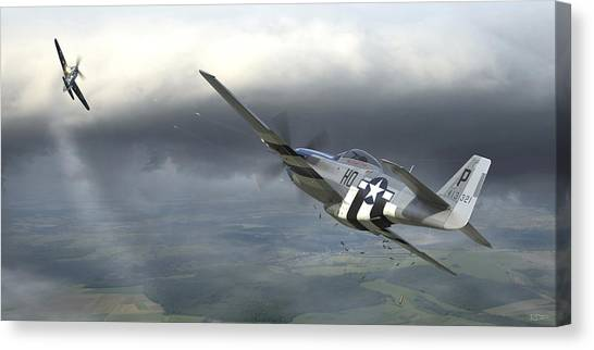 Aircraft Canvas Print - Six On The Sixth by Robert Perry