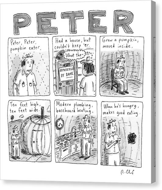 Six Rhyming Panels About A Man Who Moves Canvas Print