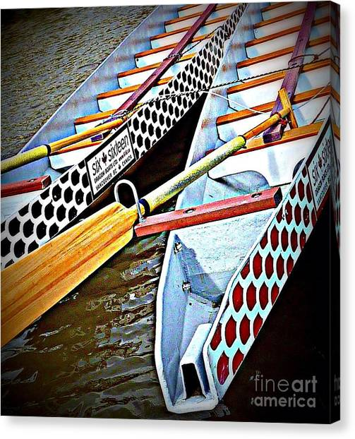 Six Sixteen Dragon Boat Canvas Print
