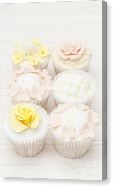 Cupcake Canvas Print - Six Ways To Temptation by Anne Gilbert