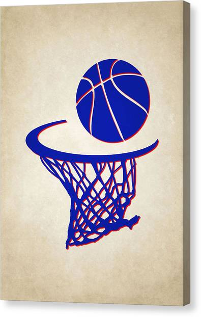 Philadelphia Sixers Canvas Print - Sixers Team Hoop2 by Joe Hamilton