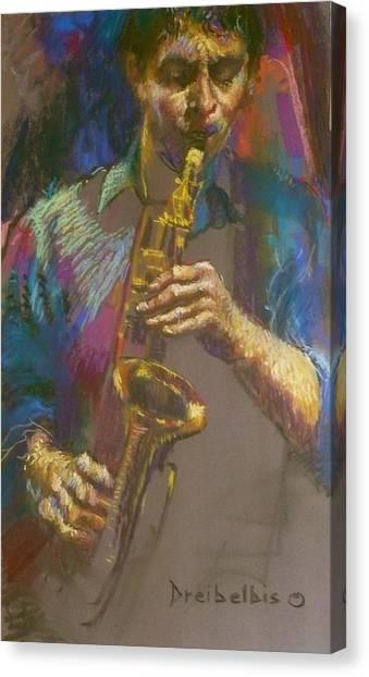 Sizzling Sax Canvas Print