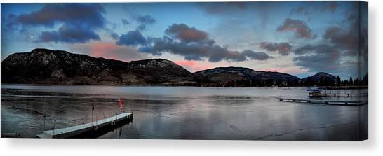 Skaha Lake Panorama 02-19-2014 Canvas Print