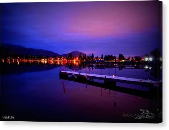 Skaha Lake2 1-27-2014  Canvas Print