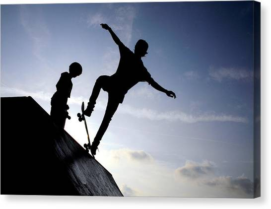 Skateboarders Canvas Print