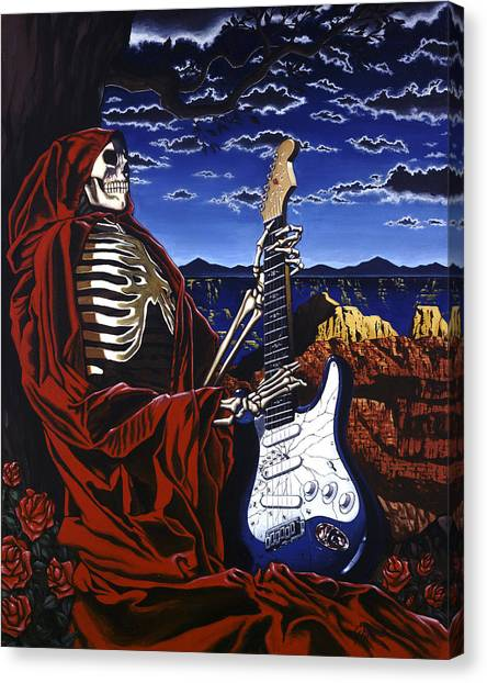 Grateful Dead Canvas Print - Skeleton Dream by Gary Kroman