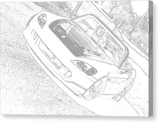 Sketched S2000 Canvas Print