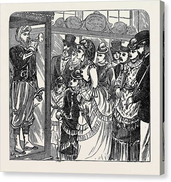 Automaton Canvas Print - Sketches In The International Exhibition The Automaton by English School