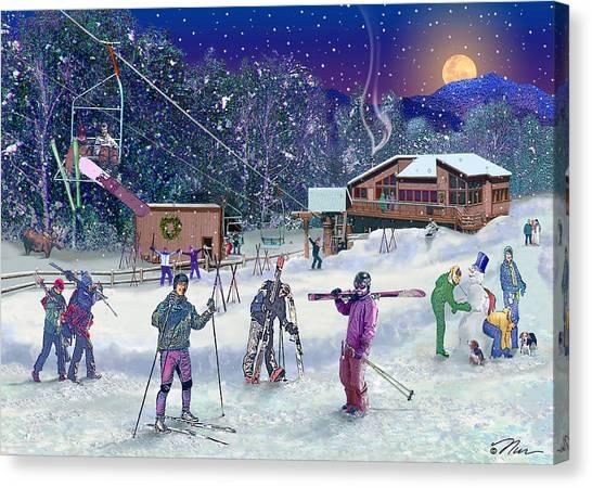 Ski Area Campton Mountain Canvas Print