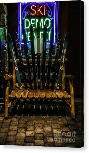 K2 Canvas Print - Ski Bench by Mitch Shindelbower
