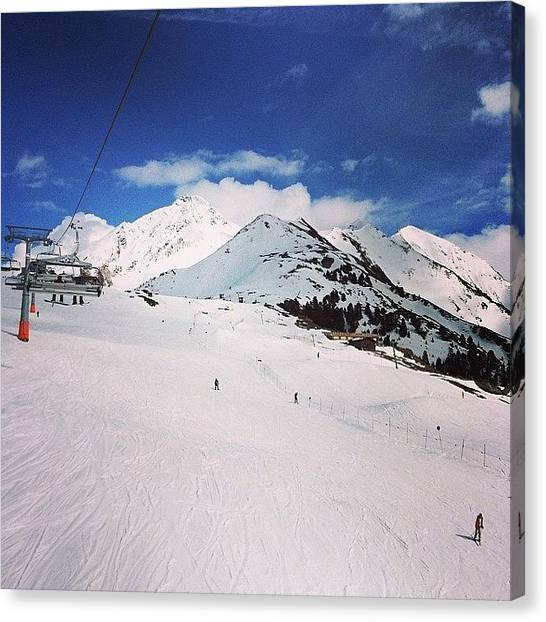 Snowboarding Canvas Print - Ski Lift View #snowbombing by Tim Topping