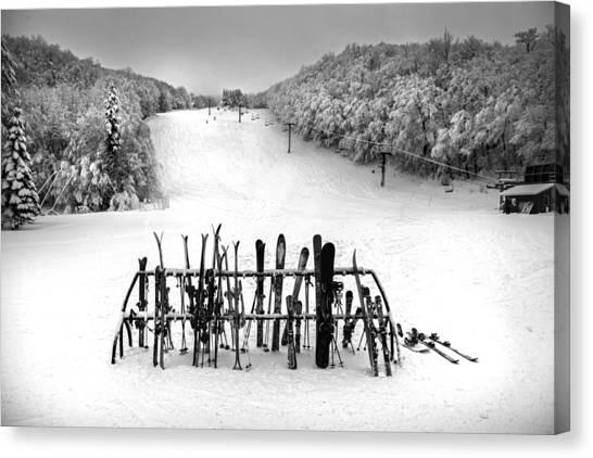 Ski Vermont At Middlebury Snow Bowl Canvas Print
