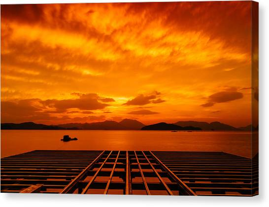 Skies Ablaze - One Canvas Print