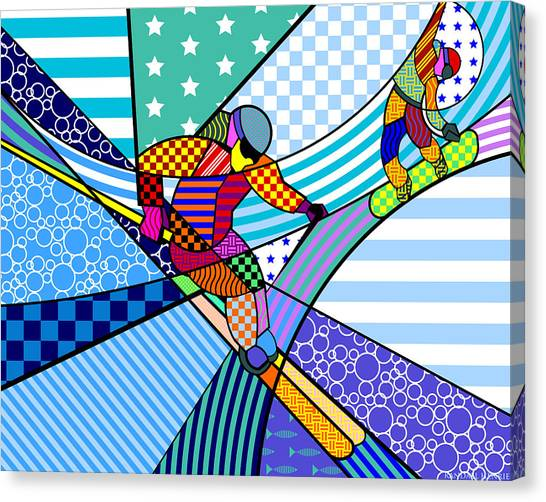 Skiing Canvas Print