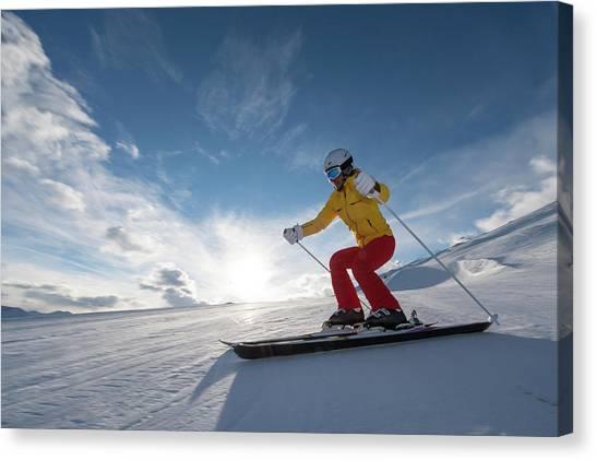 Skiing Winter Sport Canvas Print