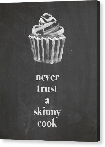 Cooking Canvas Print - Skinny Cook by Nancy Ingersoll