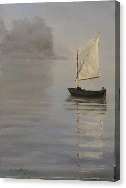 Skipjack On The Chesapeake Canvas Print