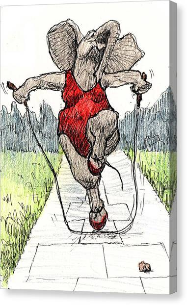 Skipping Rope Canvas Print