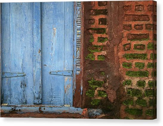 Skc 0302 A Village House Canvas Print