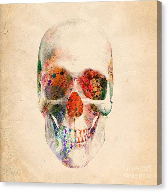 Skull Canvas Print - Skull 12 by Mark Ashkenazi