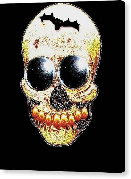 Dada Art Canvas Print - Skull Art In A Surrealism Definition by Pepita Selles
