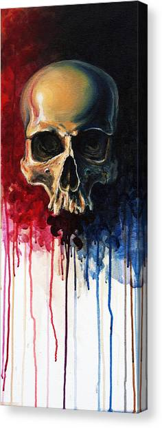 Skulls Canvas Print - Skull by David Kraig