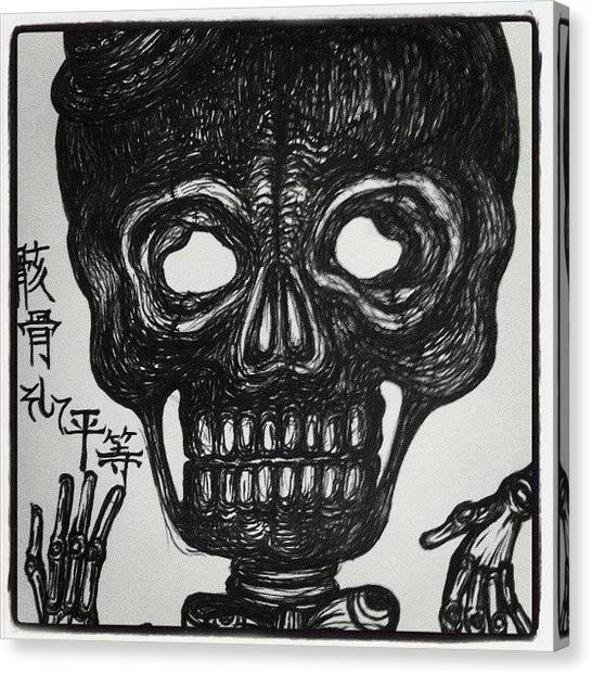 Gothic Art Canvas Print - Skull Equality by Akiko Okabe