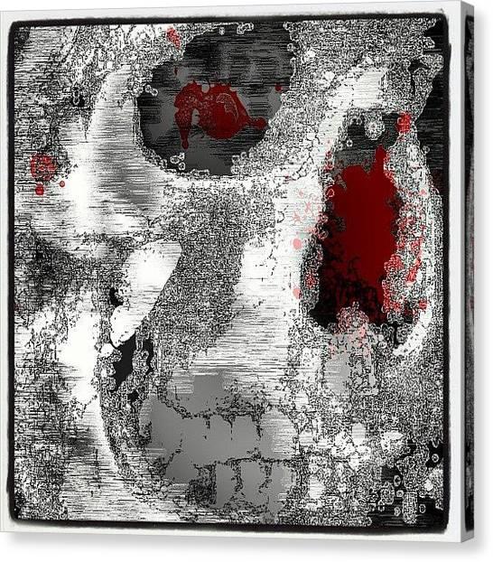 Fractal Canvas Print - #skull #fractal #freeformthought #art by King Da Ling