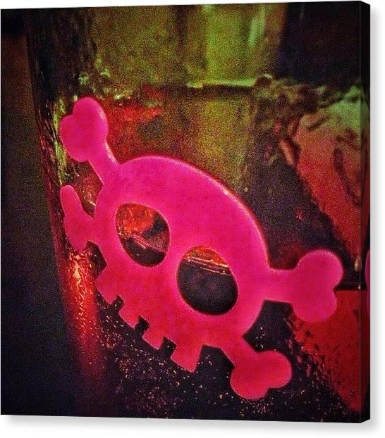 Kiwis Canvas Print - #skull #glass #sticker #cute #pink by Tonya T