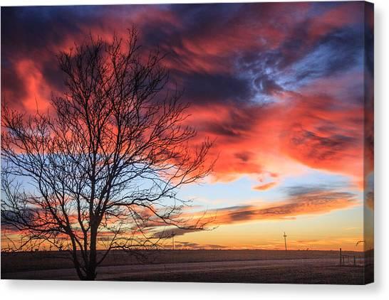 Sky Ablaze Canvas Print